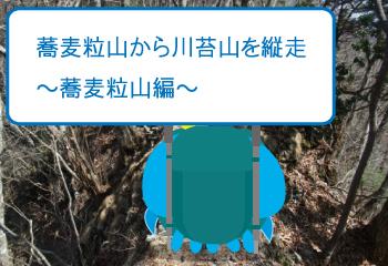 蕎麦粒山から川苔山を縦走〜蕎麦粒山編〜