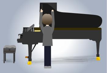 緊張のピアノ移動と屋根の取り付け