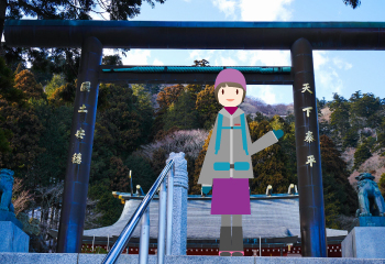 雪の丹沢大山を登る【下山編】