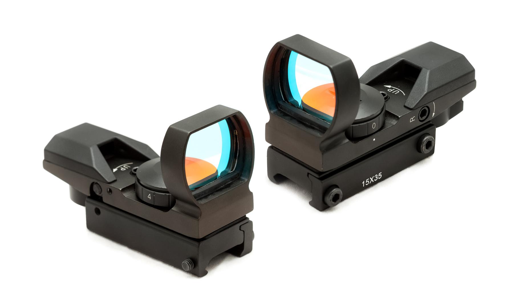 光学照準器ダットサイトでクセノンピンスポットライトの照準を作る