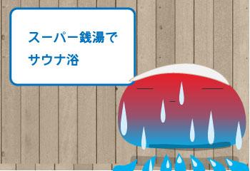 スーパー銭湯でサウナ浴【湯快爽快くりひら】