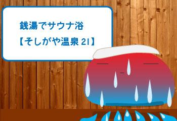 銭湯でサウナ浴【そしがや温泉21】